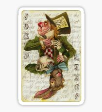 Mad Hatter Joker Card Sticker