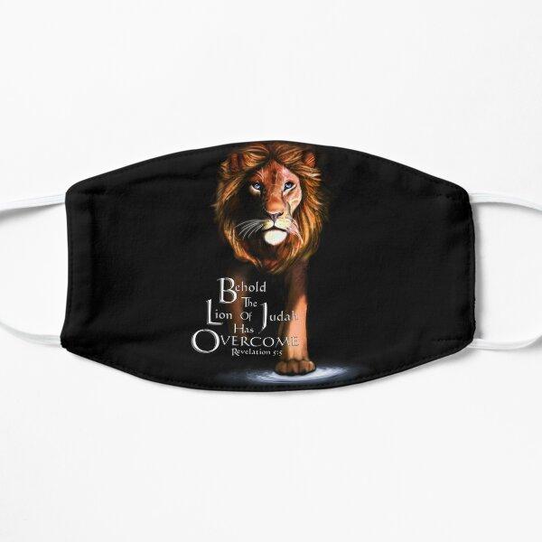 León de Judá con las escrituras (ámbar) Mascarilla plana