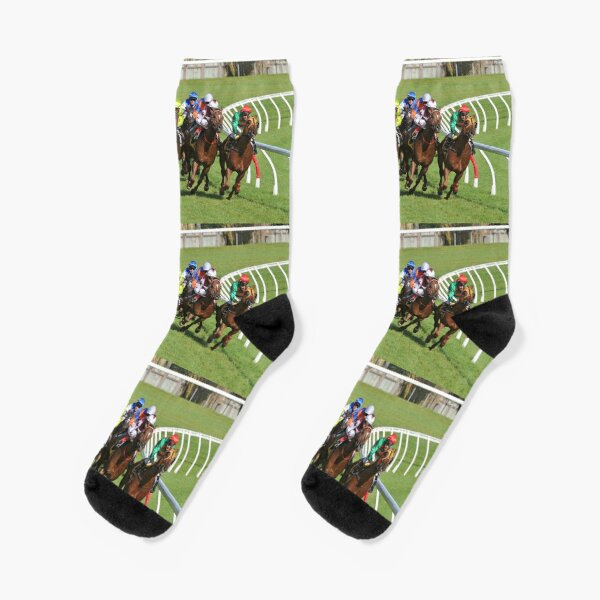 Horse racing action Socks