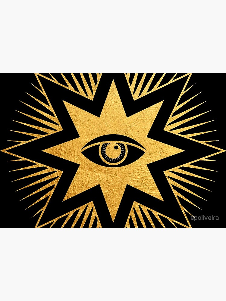 Gold symbol All seeing eye	 by epoliveira