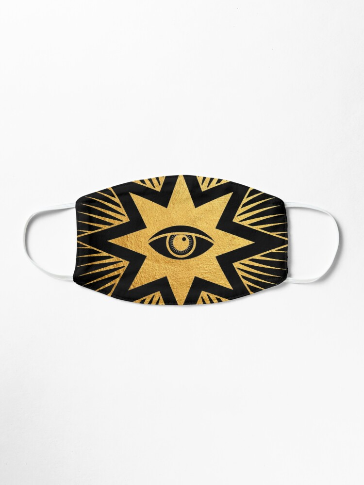 Alternate view of Gold symbol All seeing eye	 Mask