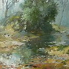 The Pond. by Guennadi Kalinine