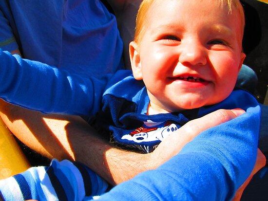 Little Boy Blue Afloat in a Boat by M-EK