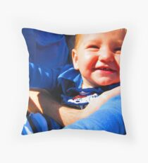 Little Boy Blue Afloat in a Boat Throw Pillow