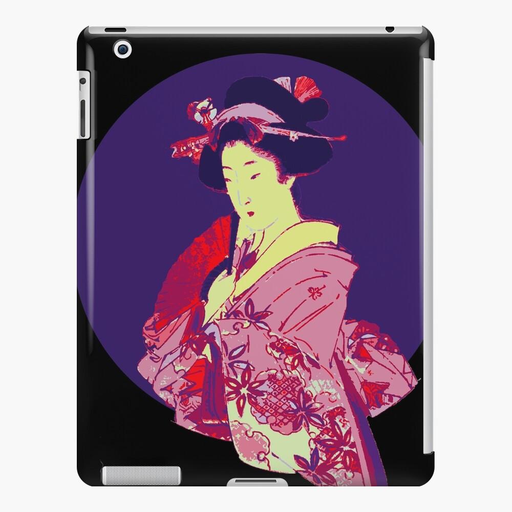 japan geisha japanese lady art iPad Case & Skin