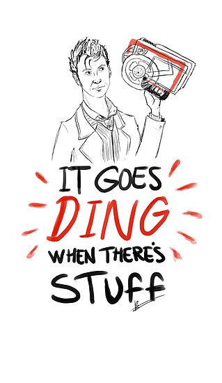 It goes ding when there's stuff by RoseBee
