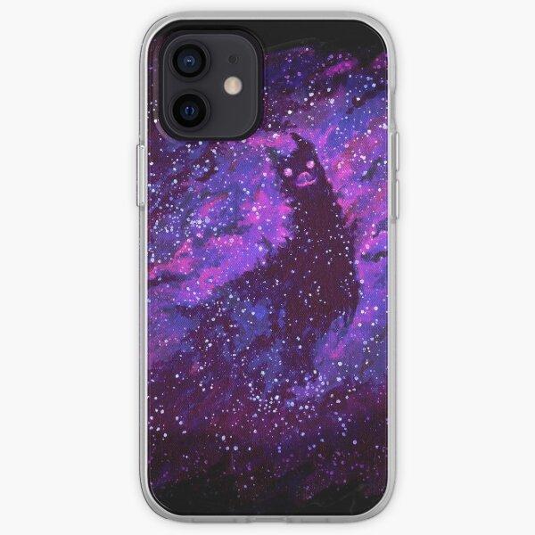 Cosmic Purple Space Llama iPhone Soft Case