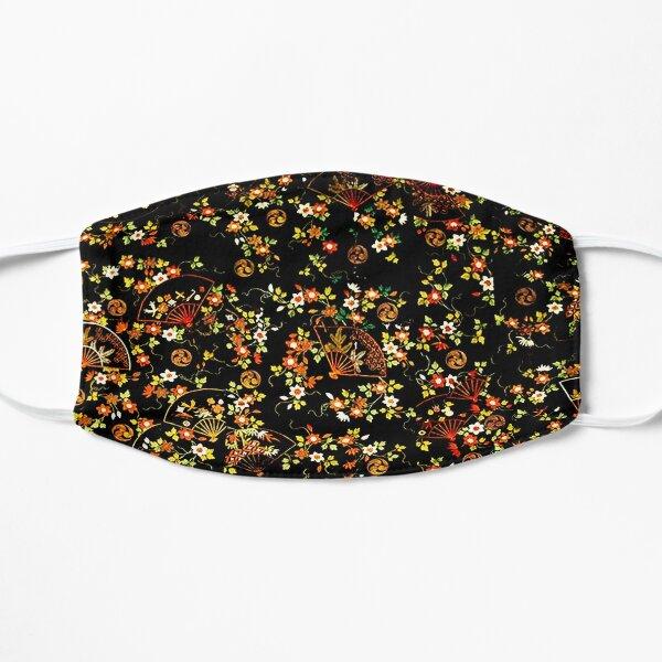 Black Floral Fan Pattern Small Mask