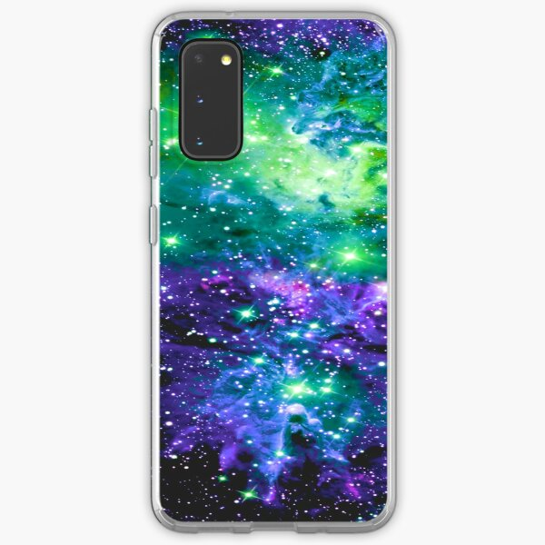 Fox Fur Nebula Purple Violet Green Samsung Galaxy Soft Case