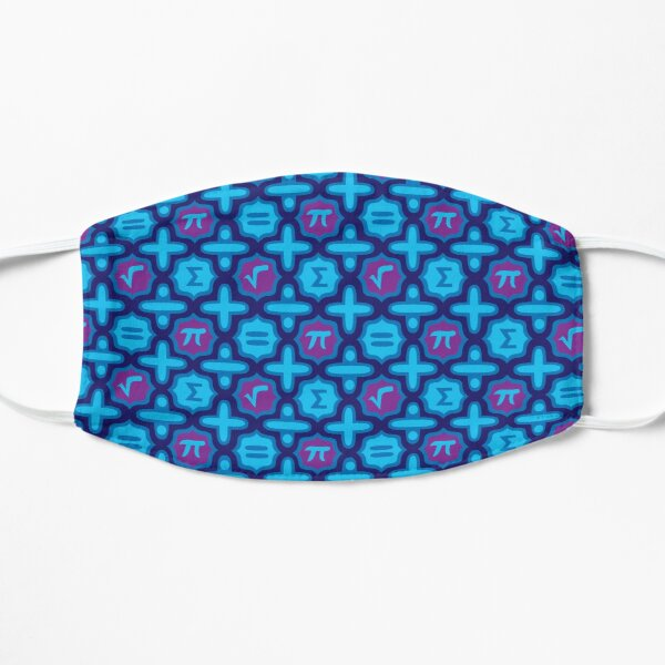 Totally Math in Blue Flat Mask