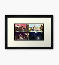A Day in Ponyville Framed Print
