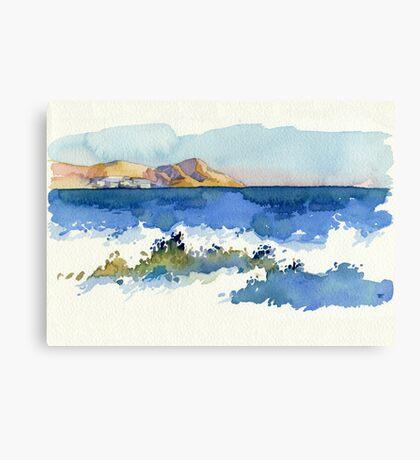 Black Sea Shore Canvas Print