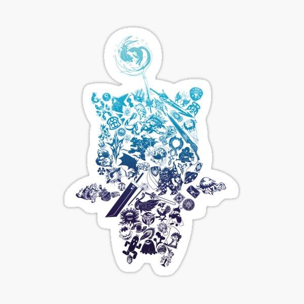 Moogle-verse (blue) Sticker