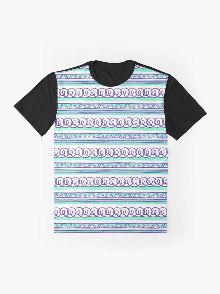 Alternate view of @@@ -- Violet & Sea Foam Graphic T-Shirt