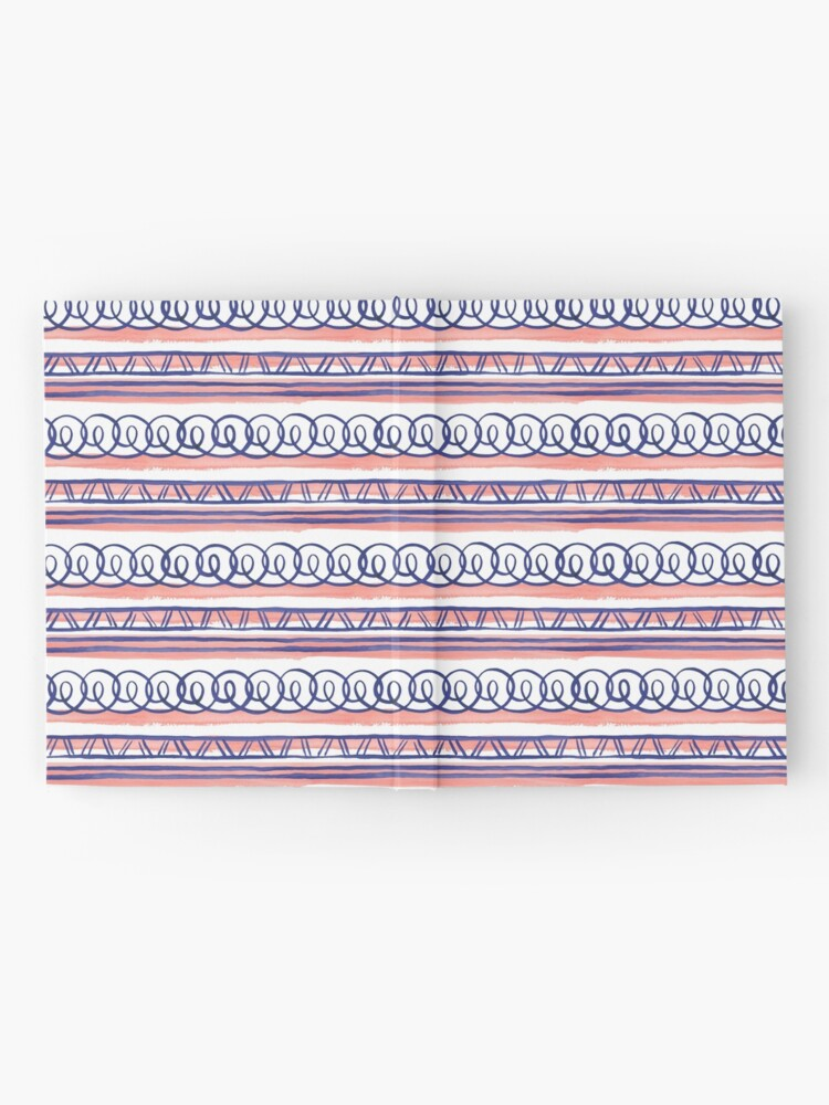 Alternate view of @@@ -- Navy & Coral Hardcover Journal