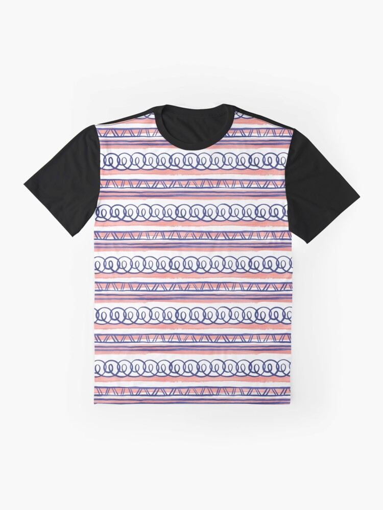 Alternate view of @@@ -- Navy & Coral Graphic T-Shirt