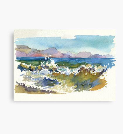 Waves in Koktebel Canvas Print