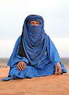 Blue Man Sahara Morocco by Debbie Pinard
