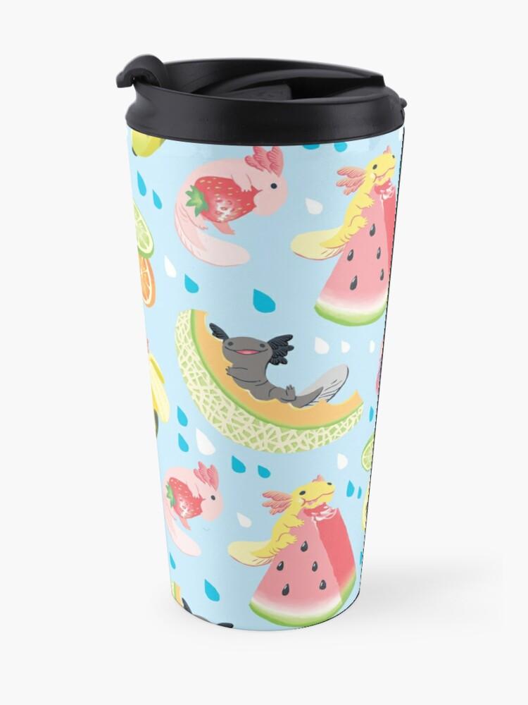 Alternate view of Fruity Fresh Snaxolotls pattern Travel Mug