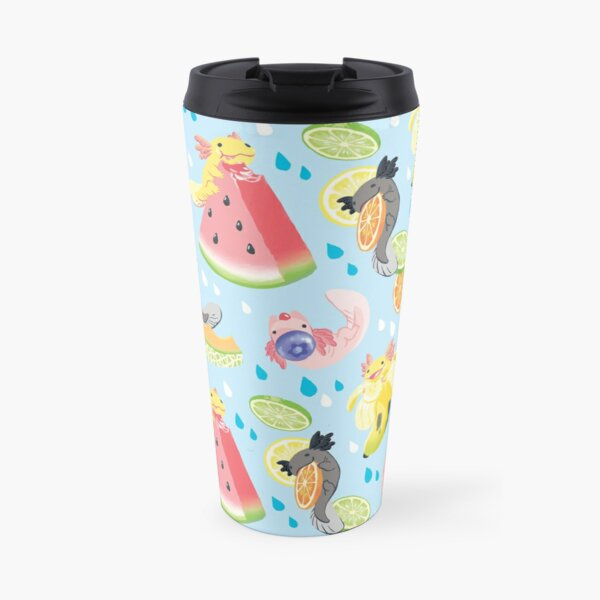 Fruity Fresh Snaxolotls pattern Travel Mug