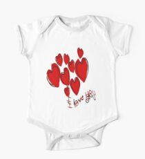 I Love You Greetings With Hearts Kids Clothes