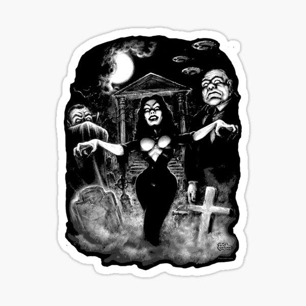 Vampira Plan 9 zombies Sticker