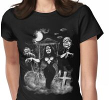 Vampira Plan 9 zombies Womens Fitted T-Shirt