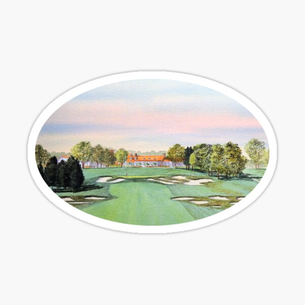 Bethpage Golf Course 18th Hole Sticker