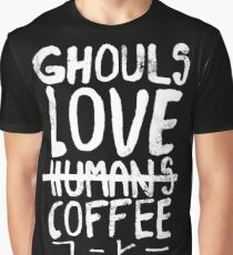 Camiseta gráfica Ghouls encanta el café