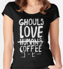 Ghouls love coffee Women's Fitted Scoop T-Shirt