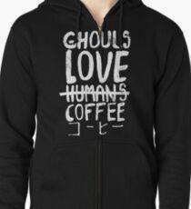 Ghouls love coffee Zipped Hoodie