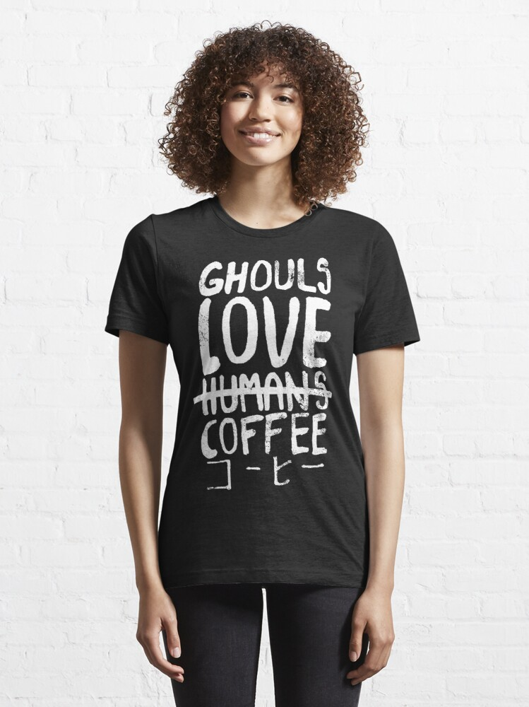 Alternate view of Ghouls love coffee Essential T-Shirt