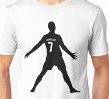 Cristiano Ronaldo Real Madrid Celebration Black and White Unisex T-Shirt