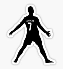 Cristiano Ronaldo Real Madrid Celebration Black and White Sticker