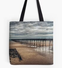 Queens Pier and the Winter Coastline Tote Bag
