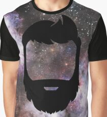 A Galaxy Full of Beard Graphic T-Shirt