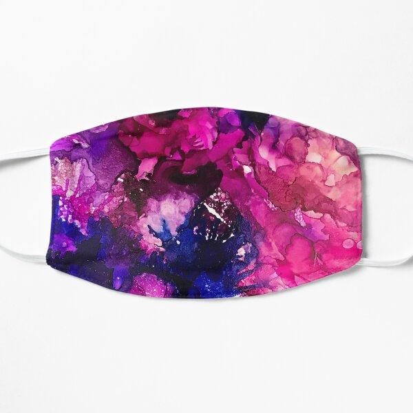 Nebula Abstract Art in Blue, Fuchsia, and Purple Flat Mask