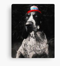 Mabel Jean Celebrates Independence Day Canvas Print