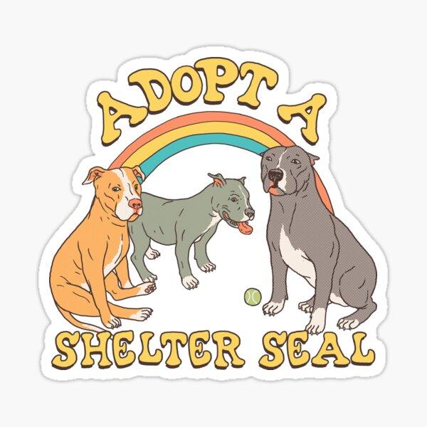 Adopt A Shelter Seal Sticker