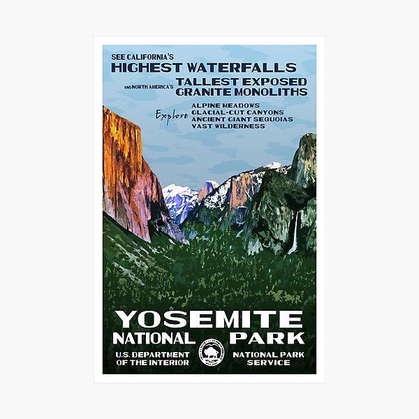 Yosemite vintage travel poster Photographic Print