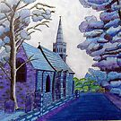 350 - BEADNELL BLUE - DAVE EDWARDS - COLOURED PENCILS & INK - 2012 by BLYTHART