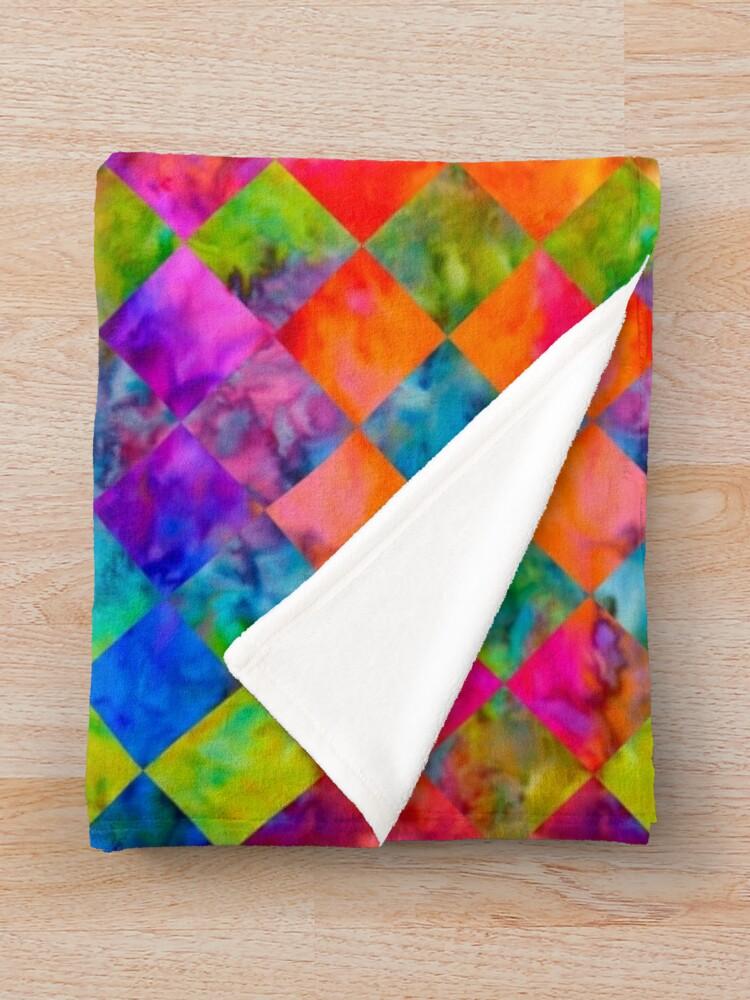 Alternate view of Harlequin Tie-Dye Throw Blanket