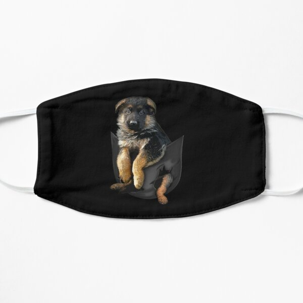 German Shepherd Puppy Pocket Flat Mask