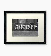 RIP Sheriff  Framed Print