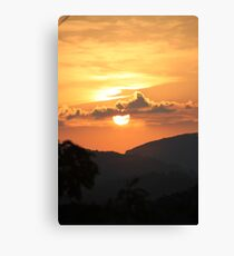 Sun over the BlueRidge Canvas Print