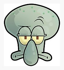 Spongebob Squidward Photographic Print