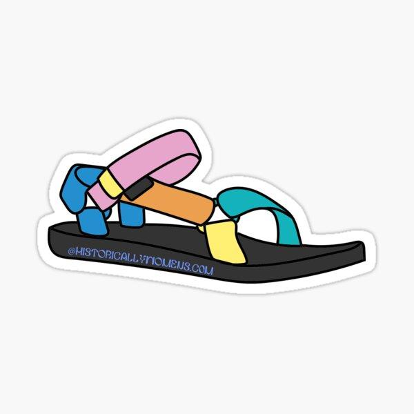 rainbow tevas Sticker