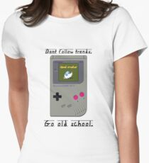 Old School Gameboy. Womens Fitted T-Shirt