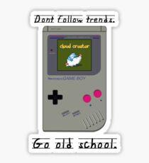 Old School Gameboy. Sticker