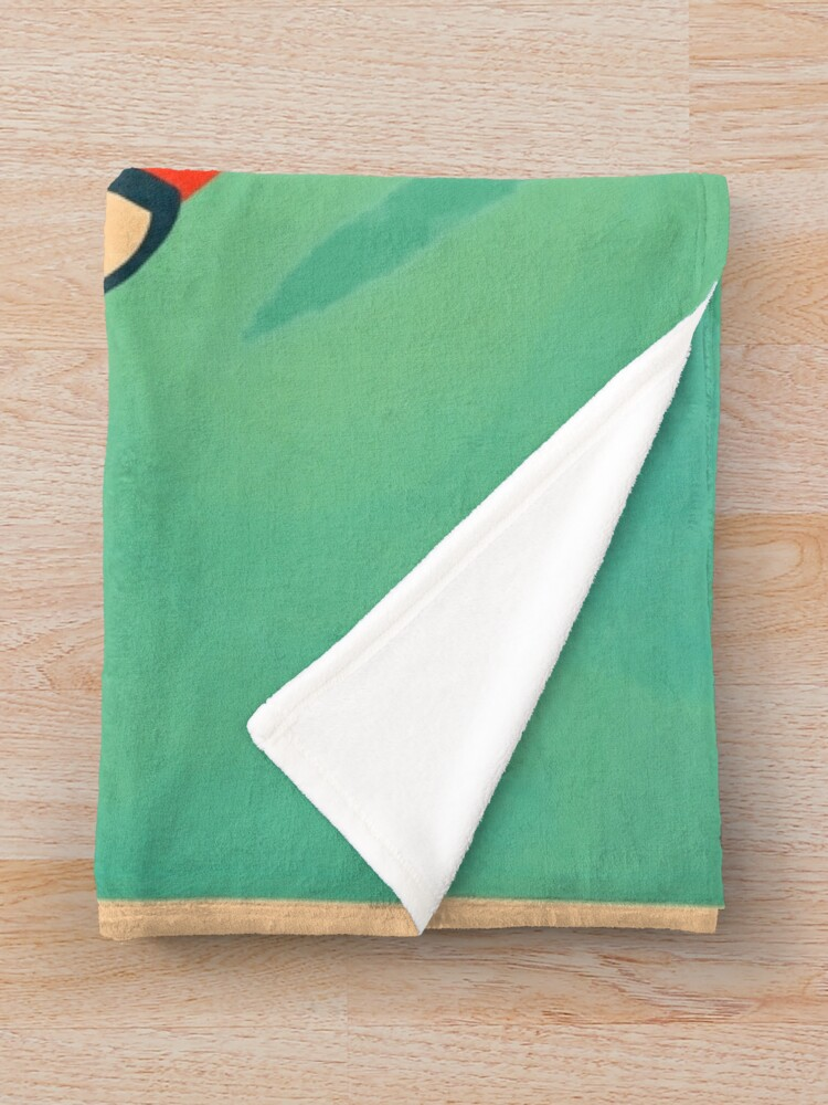 Alternate view of RETRO BELMONT UNIVERSITY LOGO Throw Blanket
